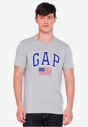 GAP grey Sp17 Us Flag Tee 80B7FAA1EF4FA2GS_1