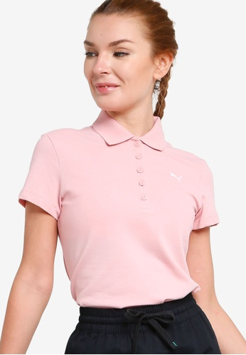PUMA pink Essentials Women's Polo Shirt 2132BAAD538981GS_1