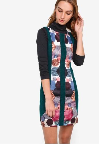Lisboa 印花撞色拼接連身裙, esprit台灣官網服飾, 服飾