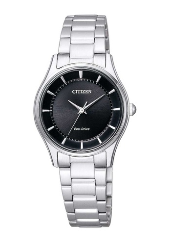 CITIZEN silver Citizen Eco-Drive Black and Silver Stainless Steel Watch CC9DDAC0CBCBB1GS_1