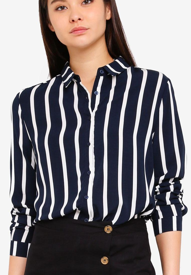 Eclipse Shirt Stripe Cotton Rebecca Total Lena On gwYFBxCqT