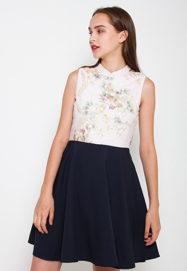 Style Leline Cheongsam Blue Averie Dress Oriental qw0CUvI