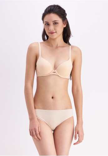 Her Own Words beige Soft Touch Bra 6E137US8520A4DGS_1