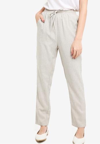 Zalia beige Casual Drawstring Pants F46C1AA7701BB3GS_1