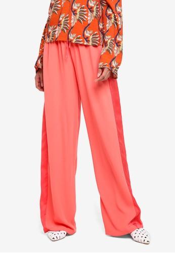 Glamorous pink Wide Legged Pants DF3E8AAA02E5BAGS_1