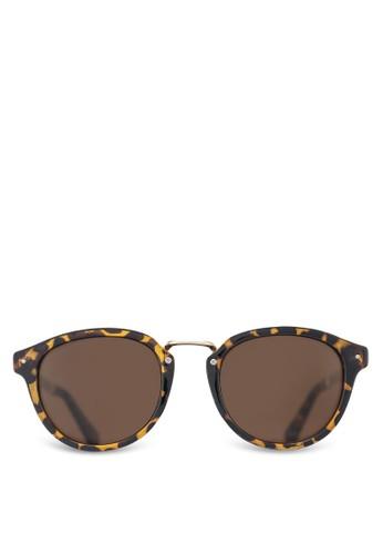 NUVEAU 印花圓框太陽眼鏡, 飾品esprit hong kong配件, 圓框