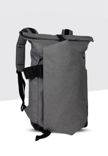 BLANC NOIR grey Minimal Oxford Cloth Backpack Travel Bag BL685AC96WVZHK_1