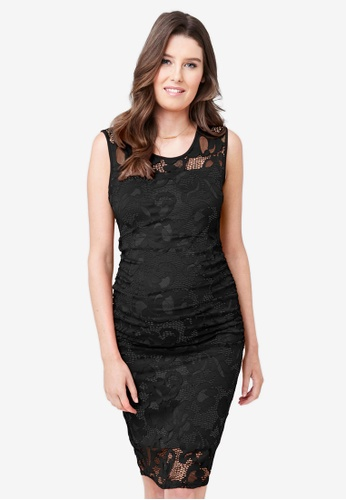 Ripe Maternity black Maternity Eden Lace Dress C9316AA5446B52GS_1