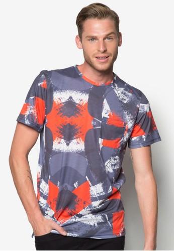 抽象水esprit hk outlet彩刷T 恤, 服飾, 印圖T恤