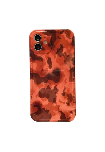 Kings Collection orange Vintage Pattern iPhone 12 Case (KCMCL2161) EF40BAC0CE15FDGS_1