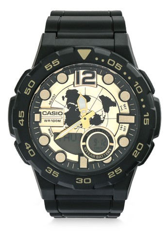 Casio black Casio Men AEQ-100BW-9AVDF Black C7EBBAC6E792C4GS_1
