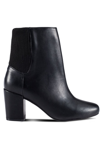 ZALORA black PU Boots 20262SHC7113D3GS_1