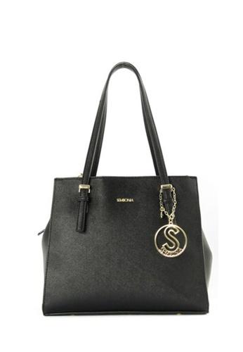 SEMBONIA black SEMBONIA Synthetic Leather Tote Bag (Black) 644ABAC1731685GS_1