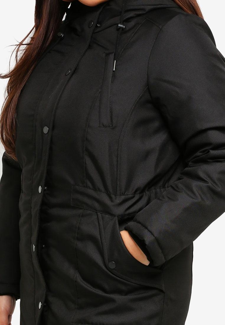 Parka Black Size Plus Jacket Junarose Hx1qgAH
