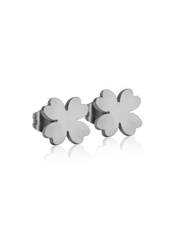 CELOVIS silver CELOVIS - Destiny Four Leaf Clover Stud Earrings in Silver D4059ACC773368GS_1