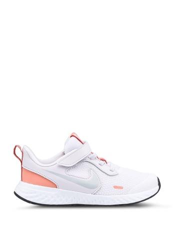 Nike white and purple Revolution 5 Shoes 1DE8AKS6F9ED92GS_1