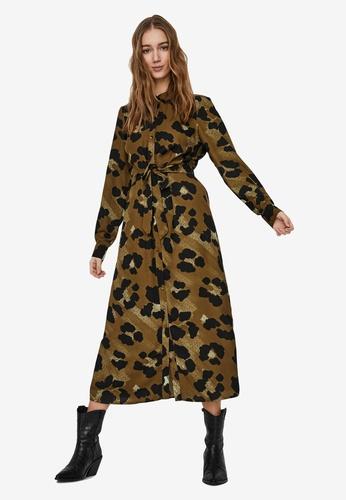 Vero Moda brown Greeta Shirt Dress 5A0A1AA4BEAFCAGS_1