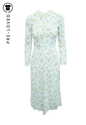 Reformation beige Pre-Loved reformation Long Sleeves  Flowery Dress 264DFAA151E42DGS_1