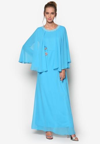 Langit 層次喇叭袖長洋裝, 服esprit地址飾, 晚宴禮服