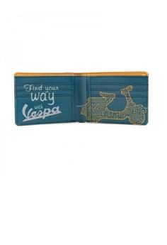 VESPA Bi-fold Ecoleather Wallet with Graphics Interior