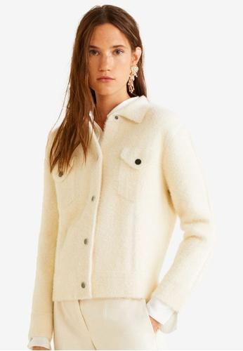 Mango beige Faux Fur Pocket Jacket 561EDAAA1EF2D4GS_1