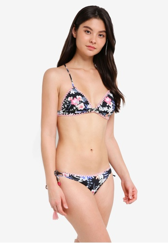 Yshey black Romantic Boho Debra Bikini Set CBA50US1A2A5D3GS_1