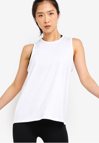 Cotton On Body white Mesh Back Tank Top 914F9AA99B2787GS_1