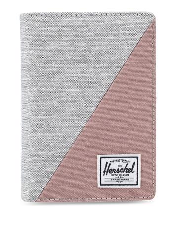 Herschel grey and pink Raynor Passport Holder 204D5ACB96F5ACGS_1