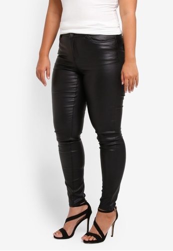 Junarose black Plus Size Five Extraslim Coated Jeans JU731AA0ST1IMY_1