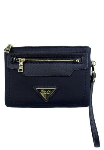 Mel&Co black Wristlet Pouch With Front Zip Pocket 15E11AC69529AFGS_1