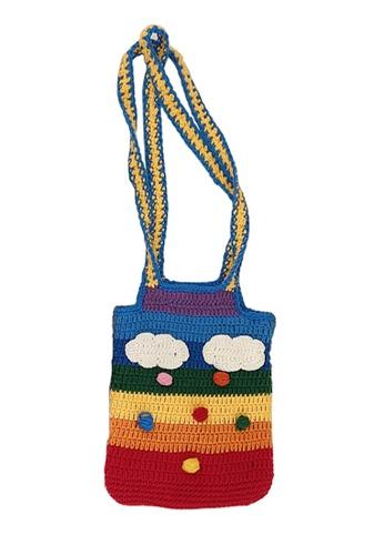 Sunnydaysweety multi Rainbow Knitted Tote Bag A092512 67D22AC087E46AGS_1