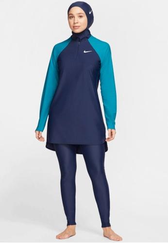 Nike navy Nike Swim Women's Essential Slim Long Legging 4FD56US770F815GS_1