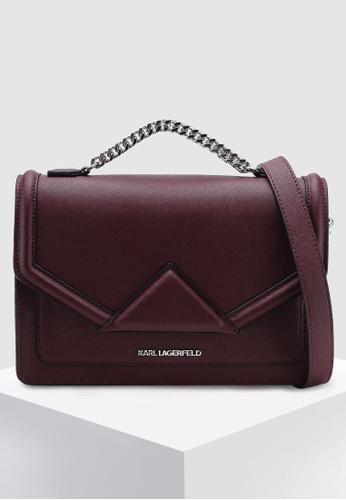 02ca2f7651fd KARL LAGERFELD red Klassik Shoulder Bag 63050AC89A5F74GS 1