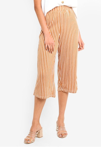 Cotton On white and brown Marlee Luxe Culottes FD567AA0B41AACGS_1