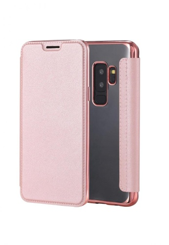 MobileHub pink Ultra Clear Slim Case with Flip Cover for Samsung Galaxy S9 Plus 5D71FACBDCE3B0GS_1