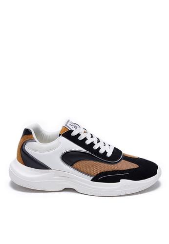 Life8 brown Sporty Lace-Up Shoes-09905-Khaki 4533ESH9EFF505GS_1