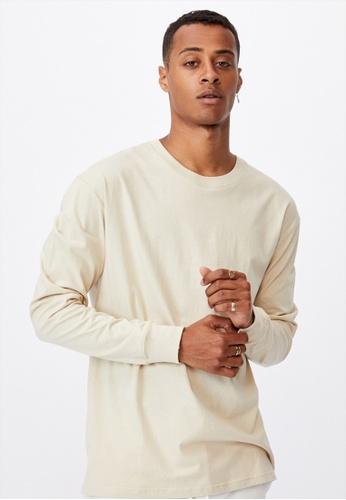 Cotton On beige Tbar Long Sleeve T-Shirt F09BCAAF6FA1BAGS_1