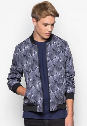 抽象印花棒球外套、 服飾、 外套24:01抽象印花棒球外套最新折價