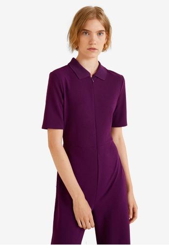 Mango purple Long Palazzo Jumpsuit 239B9AA4487F6FGS_1