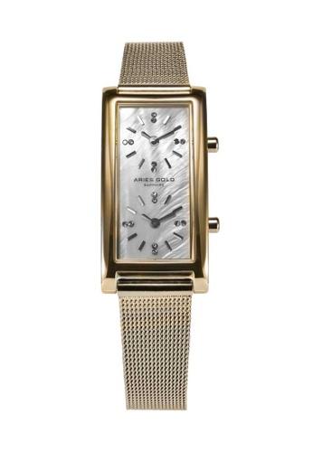 Aries Gold gold Aries Gold Enchant Gemini Gold Watch 9BB23AC7624F54GS_1