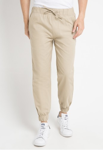 Malibu brown Jogger woven long pants MA962AA0WE5SID_1