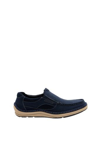 SEMBONIA blue Men Microfiber Loafer 2E7BBSH6BEBC91GS_1