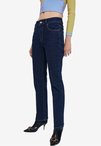 URBAN REVIVO blue Casual Jeans F1110AAAFDD4E2GS_1