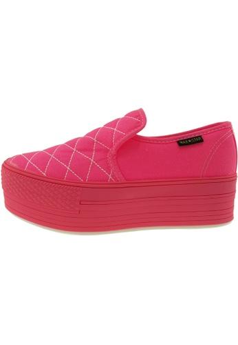 Maxstar 粉紅色 新款韩国鞋C50-7H-Stitch-All-Neon時尚帆布布混合女粉紅色 US Women Size MA345SH23GWETW_1