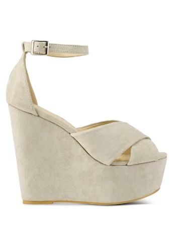 Something Borrowed navy Ankle Strap Wedges FE638SH9627043GS_1