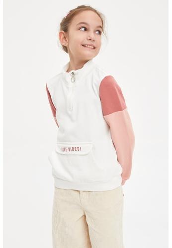 DeFacto beige Girl Knitted Sweat Shirt 39D29KAD95E53FGS_1