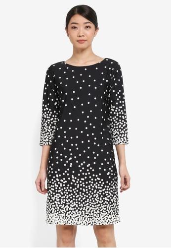 Wallis black Black Polka Dot Tunic Dress 36D16AAB714FCDGS_1
