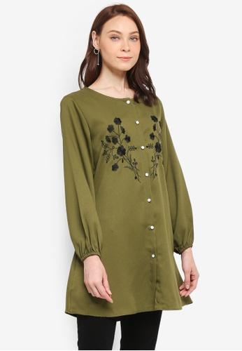 BYN green Muslimah Blouse 1630EAAB2176EBGS_1