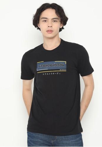 XTRAORDINARY (XO) black Graphic Cotton Combed Fashion Tee FDF32AA6D4AA7FGS_1