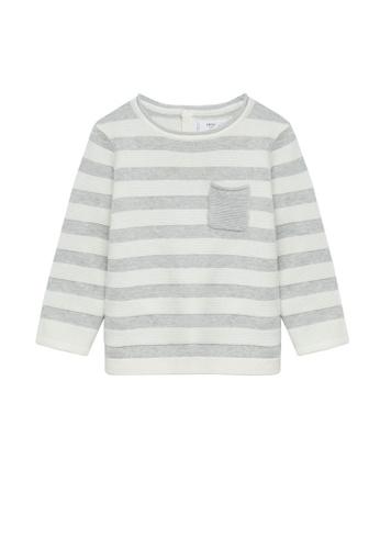 MANGO BABY grey Striped Organic Cotton Sweater 79E50KADCDFEB7GS_1